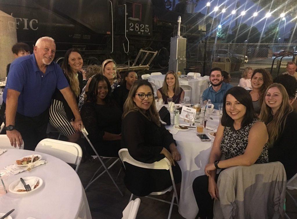 San Bernardino County Public Defender social workers around a table