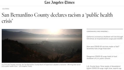 San Bernardino County Declares Racism a Public Health Crisis