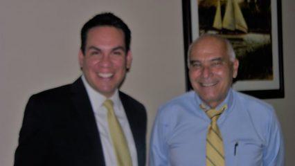 Pete Aguilar and Alan Messarra