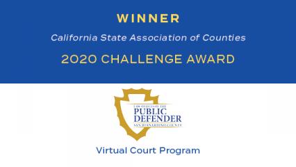 CSAC 2020 Challenge Award for Virtual Court Program