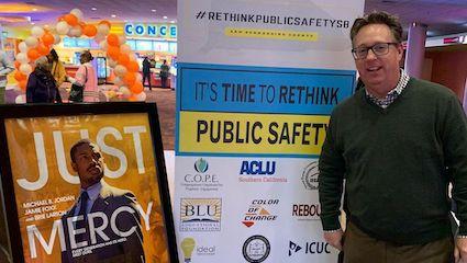 Public Defender Chris Gardner at Just Mercy Screening January 2020